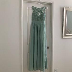 Lulus Seafoam Green Gown